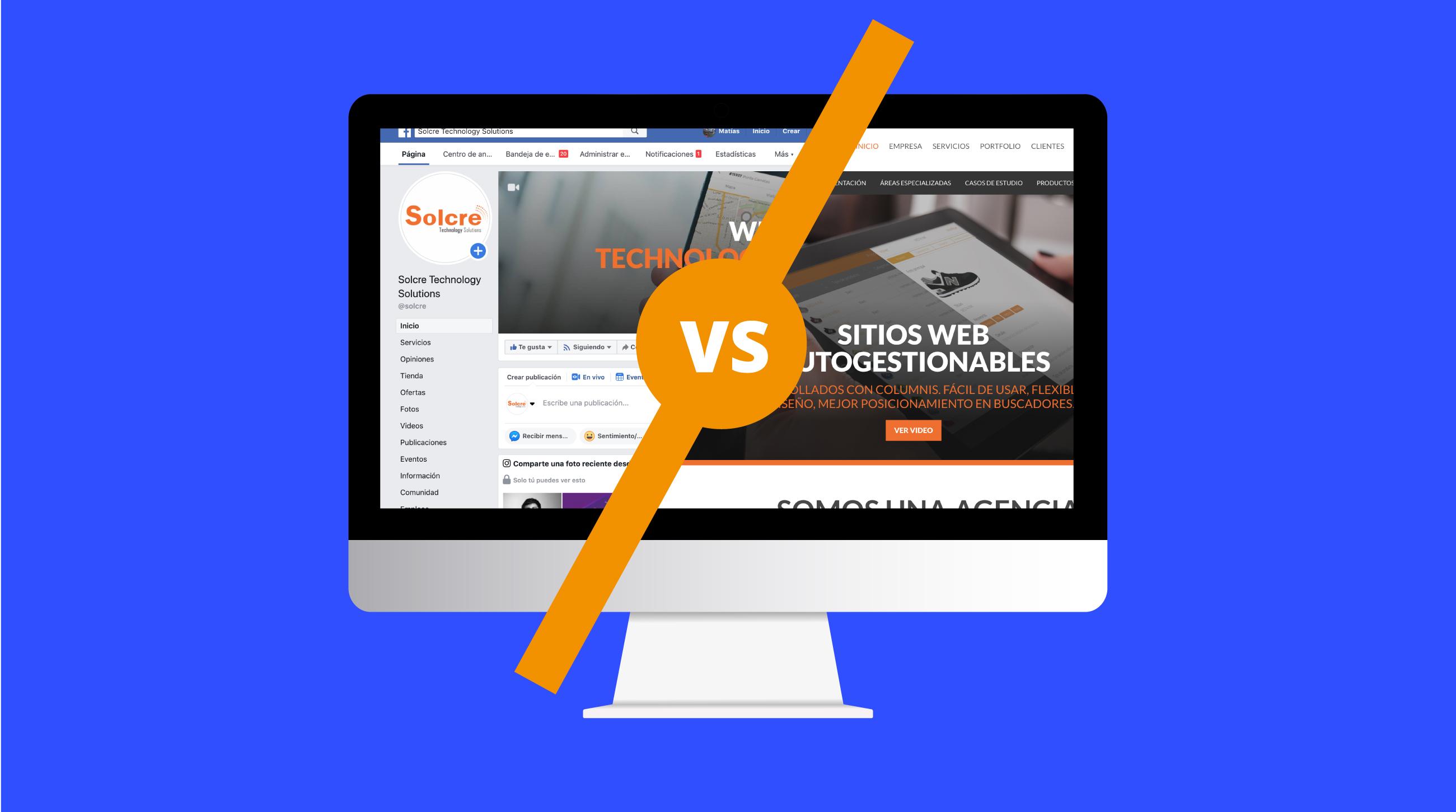 Sitio Web vs Página de Facebook - ¿Qué es mejor?