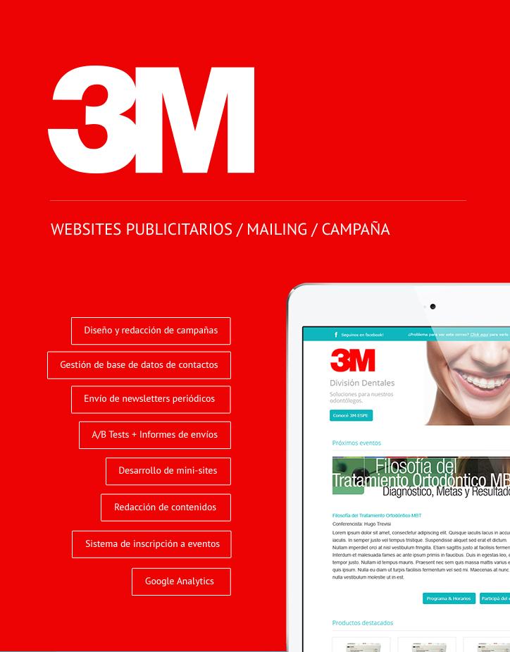 WEBSITES PUBLICITARIOS / MAILING / CAMPAÑA