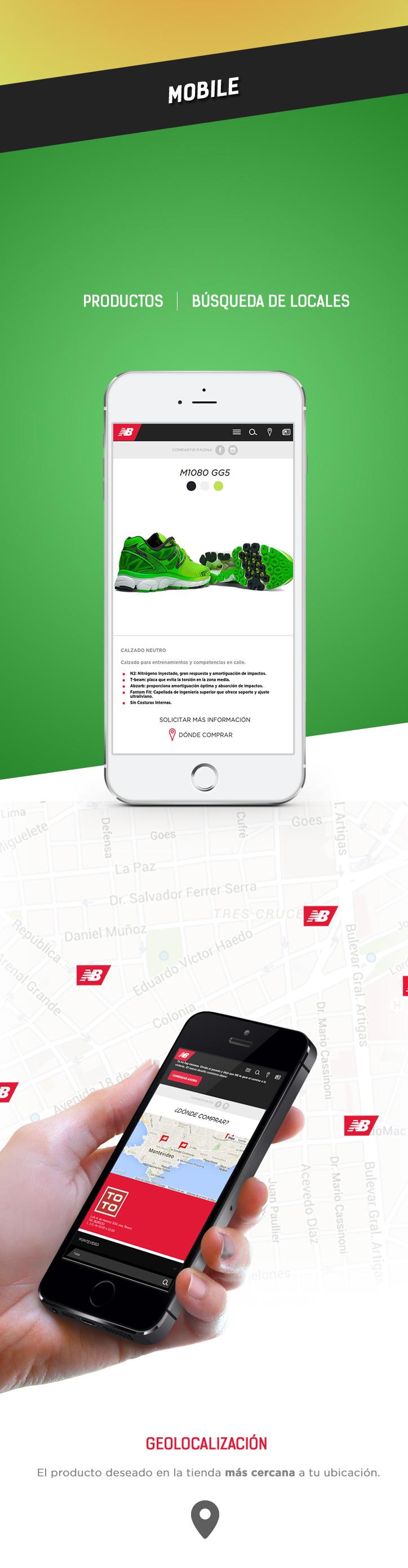 Mobile (Productos, Búsqueda de Locales)
